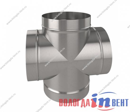 Крестовина круглая для воздуховода из оцинкованной и нержавеющей стали