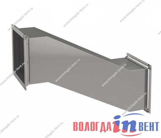 Утка прямоугольная для воздуховода из оцинкованной и нержавеющей стали